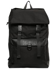 Ktz Leather And Techno Canvas Backpack