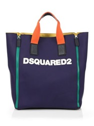 Dsquared Rubber Logo Tote Navy Multi