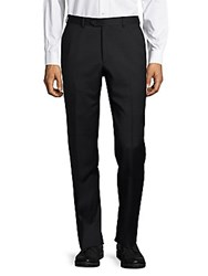 Santorelli Woolen Check Dress Pants Charcoal