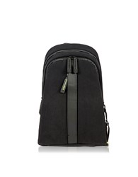 Bric's Black Nylon And Leather Backpack W Single Shoulder Strap