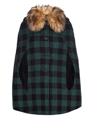 Red Valentino Checked Wool Cape