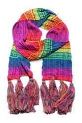 Muk Luks Candy Coated Cable Tassel Scarf Multi