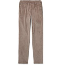 Thom Sweeney Taupe Slim Fit Cotton Corduroy Suit Trousers Brown