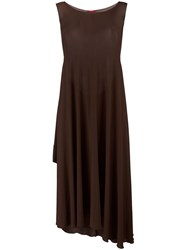 Kenzo Vintage Long Dress With Cape Brown