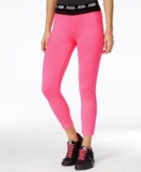 Energie Active Juniors' Poppy Cropped Pull On Leggings Candy Pink