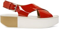 Flamingos Red Patent Malabis Sandals