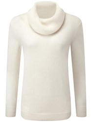 Pure Collection Joy Cowl Neck Jumper Soft White