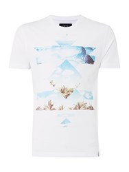 Criminal Rio Graphic Print Short Sleeve T Shirt White