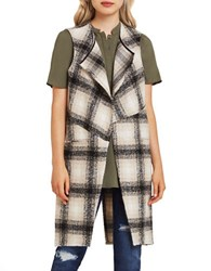 Bcbgeneration Sleeveless Plaid Vest Black Multi