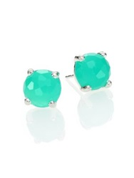 Ippolita Rock Candy Chrysoprase And Sterling Silver Mini Stud Earrings Silver Green