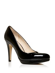 Moda In Pelle Civello High Heel Platform Court Shoes Black
