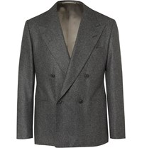Camoshita Vitale Barberis Canonico Dark Grey Puppytooth Wool Suit Jacket Gray