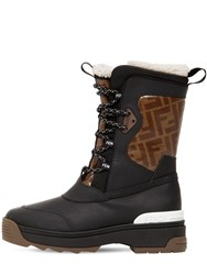 Fendi 60Mm Ff Rubberized Leather Snow Boots Array 0X579bc68