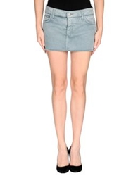 Cycle Denim Skirts Slate Blue