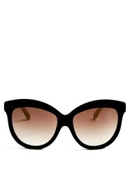 Italia Independent Velvet Effect Cat Eye Sunglasses Black