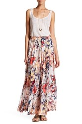 Melrose And Market Floral Maxi Skirt Petite Pink