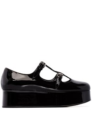 Miu Miu Double T Bar Platform Pumps Black