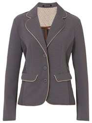 Betty Barclay Panelled Jacket Grey Camel