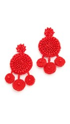 All Things Mochi Spanish Earrings Red