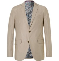 Etro Beige Stretch Cotton Blazer Tan