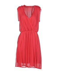 Fairly Dresses Knee Length Dresses Women Fuchsia