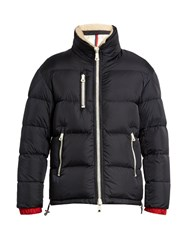 Moncler Pessac Quilted Down Coat Navy
