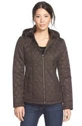 Women's Laundry By Design Quilted Jacket With Detachable Hood Espresso