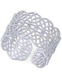 Inc International Concepts Crystal Studded Filigree Ring Created For Macy's Silver