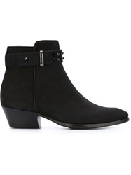 Barbara Bui Studded Ankle Boots Black