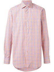 Kiton Checked Shirt Men Cotton 43 White
