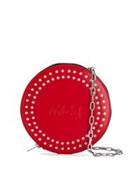 Mcq By Alexander Mcqueen Round Shaped Crossbody Bag Red