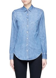 Rag And Bone 'Classic' Cotton Chambray Shirt Blue