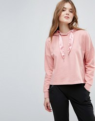 Only Beatrice Sateen Pullers Hoody Blush Pink
