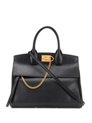 Salvatore Ferragamo Structured Tote Bag Black