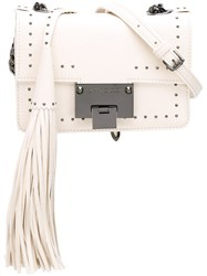 Jimmy Choo Studded Satchel Bag White