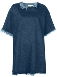 Marques Almeida Marques'almeida Oversized T Shirt Dress Blue