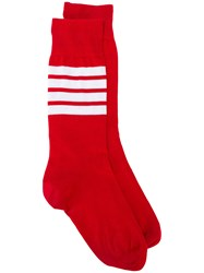 Thom Browne Lightweight Cotton Socks Red