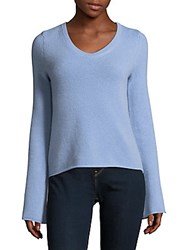 Cashmere Saks Fifth Avenue Flare Sleeve Top Charcoal