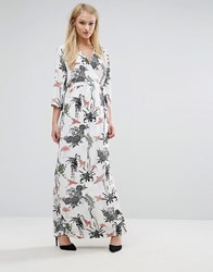 Vila Wrap Floral Maxi Dress Multi