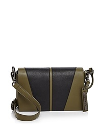 Via Spiga Vicky Saffiano Bi Color Crossbody Military Black