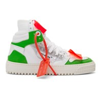 Off White And Green 3.0 Court Sneakers