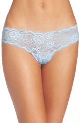 Free People Women's Come Together Lace Thong Blue