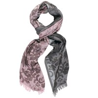 Chesca Floral Printed Scarf Pink Grey