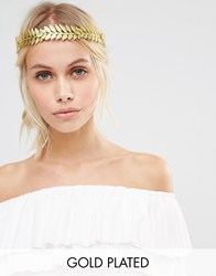 Johnny Loves Rosie Morgan Gold Leaf Headband Gold