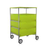 Kartell Mobil 3 Drawer Tray Wheels Citron Yellow