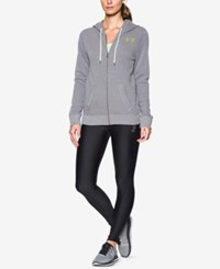 Under Armour Favorite Fleece Hoodie Graphite Light Heather Smash Yellow