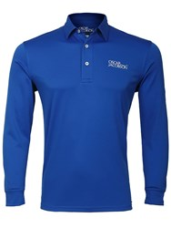 Oscar Jacobson Hubert Tour Long Sleeve Polo Blue