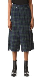 R 13 Layered Kilt Gaucho Pants Black Watch 8