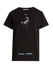 Off White Othelo's Scorpion Print Cotton Jersey T Shirt Black Multi
