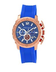 Vince Camuto Mens Rose Goldtone Chronograph Watch Blue